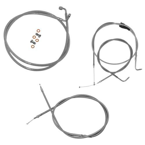 l a  choppers stainless handlebar cable and brake line kit