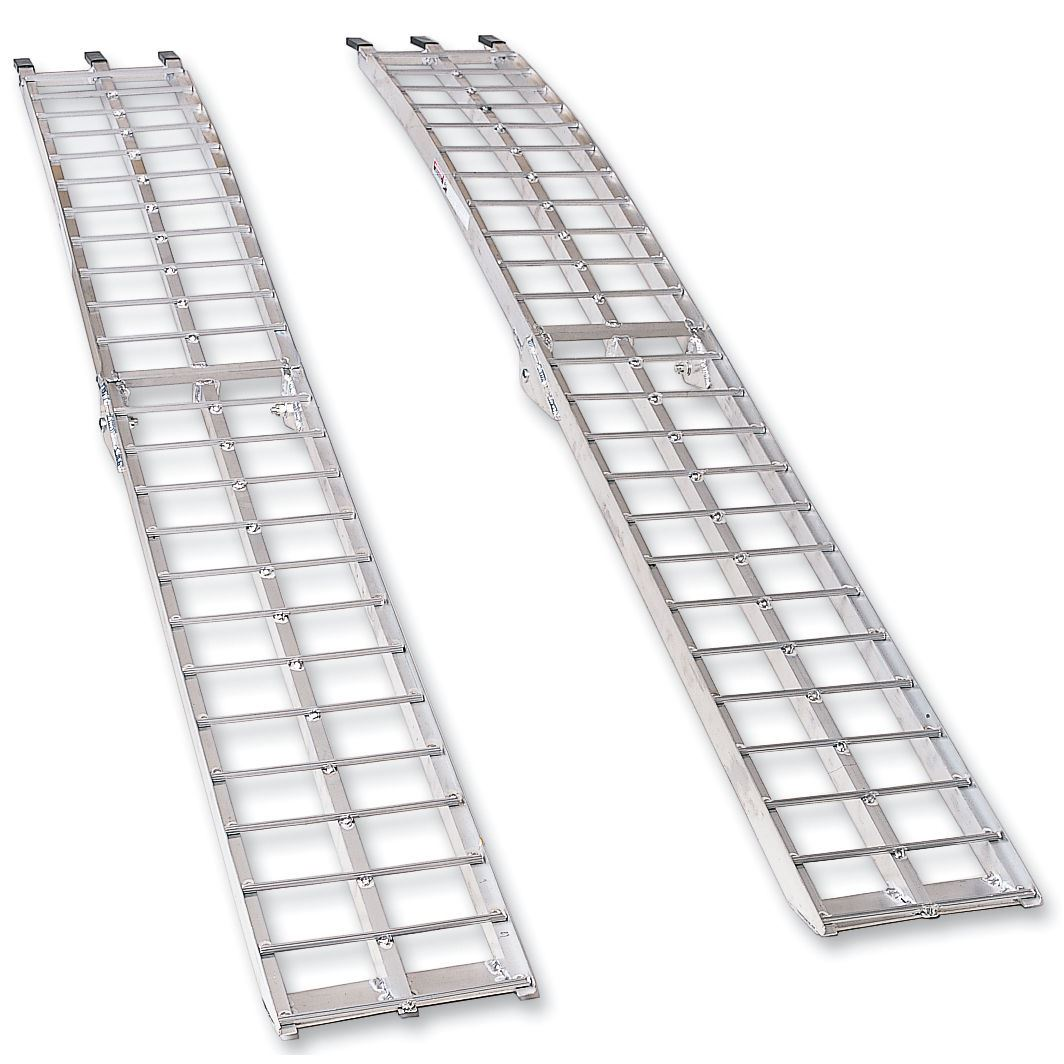 moose racing arched folding aluminum ramp