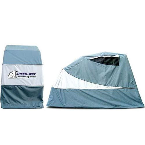 Motorcycle Covers Shelter : Speedway motor shelters motorcycle shelter grey