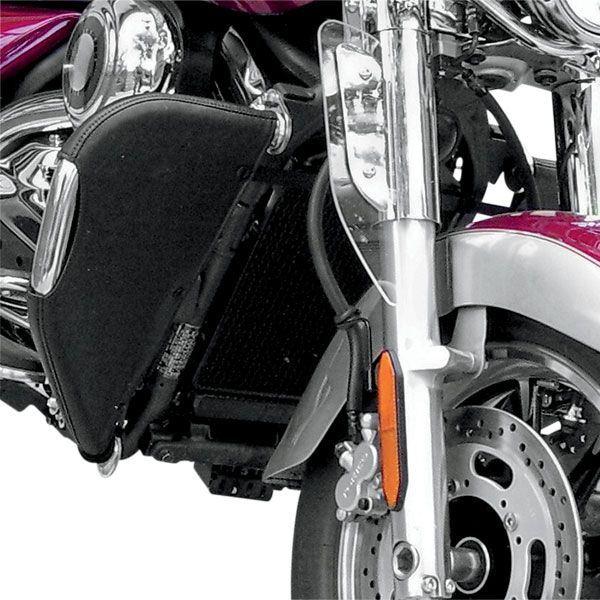 Leader Desert Dawgs Highway Bar Rain Guards - 2010 Harley-Davidson Electra Glide - FLHT - w ...